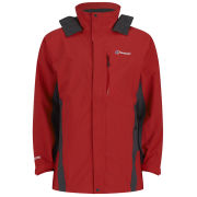 Berghaus Men's Hurricane Shell Jacket - Red/Dark Grey