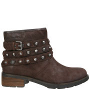 CK Jeans Women's Helga Studded Biker Ankle Boots - Dark  Brown