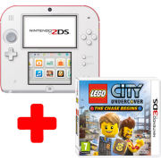 Nintendo 2DS White & Red Console: Bundle includes LEGO City Undercover: The Chase Begins