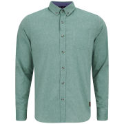 Brave Soul Men's Cleric Long Sleeve Shirt - Green