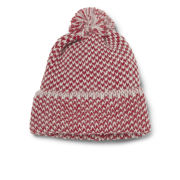 Peter Jensen Men's Diagonal Stitch Merino and Alpaca Hat - Red/White