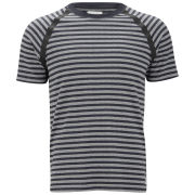 Wood Wood Men's Johnny Taped-Seam Crew Neck T-Shirt - Navy Zig-Zag