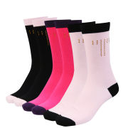 Ted Baker Shauny Crystal T 3 Pack Socks - Pink Multi