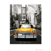 New York Taxi No 1 - 40 x 50cm Print