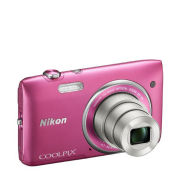 Nikon Coolpix S3500 Compact Digital Camera - Pink  (20MP, 7x Optical Zoom, 2.7 Inch LCD) - Grade A Refurb