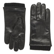 BOSS Black Men's Haily Cashmere Lined Leather Gloves - Black