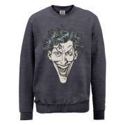 DC Comics Sweatshirt - The Joker Head - Steel Grey