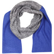 French Connection Block Party Knit Scarf - Grey/Blue
