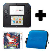 Nintendo 2DS Black & Blue: Bundle includes Pokemon Y