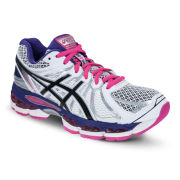 Asics Women's Gel-Nimbus 15 Pearl Running Trainers - White/Black/Purple