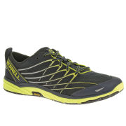 Merrell Men's Bare Access 3 Trail Running Shoes - Navy/High Viz Yellow