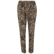 Vero Moda Women's Leopard Print Loose Pants - Black