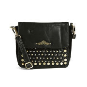 Urbancode Grudge Leather Mini Crossbody Bag - Black