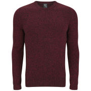 McQ Alexander McQueen Men's Mouline Zip Knit Crew Neck Jumper - Burnt Brick