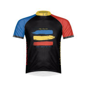 Primal Police Synchronicity Short Sleeve Jersey - Red/Blue/Yellow