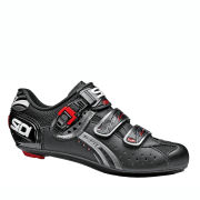 Sidi Genius 5 Fit Mega Carbon Cycling Shoes - Black/Titanium 2014