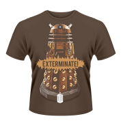 Doctor Who Men's T-Shirt - Gold Dalek