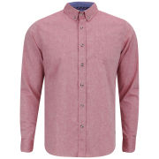 Brave Soul Men's Cleric Long Sleeve Shirt - Red