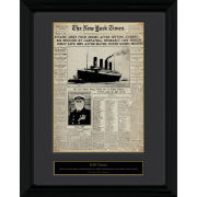 Titanic Newspaper - 30 x 40cm Collector Prints