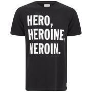 Wood Wood Men's Heroin Printed Crew Neck T-Shirt - Black