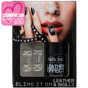 nails inc. Bling It On Black Leather and Skulls