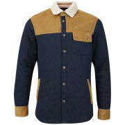Tokyo Laundry Men's Lucien Quilted Shirt with Sherpa Lined - Dark Navy