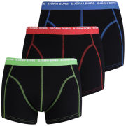 Bjorn Borg Men's 3 to Go Seasonal Boxer Shorts - Black Contrast