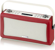 View Quest Hepburn Bluetooth Audio System with DAB+/FM Radio - Red