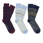 French Connection Men's Victor 3-Pack Socks - Multi