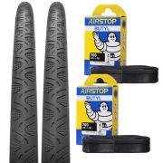 Continental Grand Prix 4000S II Clincher Road Tyre Twin Pack with 2 Free Inner Tubes - Black - 700C x 23mm