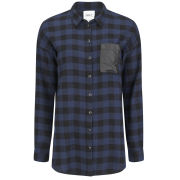 ONLY Women's Joy Tartan Shirt - Navy
