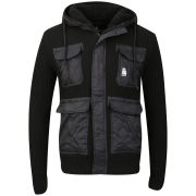 Crosshatch Men's Arndale Sherpa Lined Hooded Zip - Black