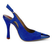 Love Moschino Women's Heart Sling Back Heels - Cobalt