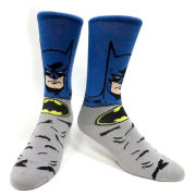 DC Comics Batman Menacing Dark Knight Crew Socks - Grey
