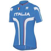 Sportful Italia IT Short Sleeve Jersey - Blue