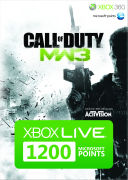 Xbox Live 1200 Microsoft Points: Call of Duty Modern Warfare 3 (Branded)