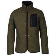 Boxfresh Men's Bristols Quilted Jacket- Ivy Green
