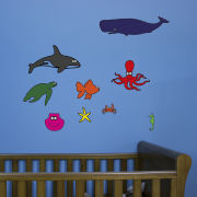 Ocean Creatures Sticker Pack for Kids (with Free Crab Decal)