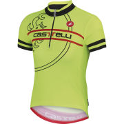 Castelli Kids' Segno Short Sleeve Jersey - Yellow