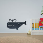 Whale Vinyl Wall Art Chalkboard Decal for Kids and Children's Nursery (with Free Crab Decal)