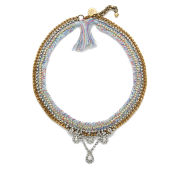Venessa Arizaga Women's Snowflake Necklace - Light Blue
