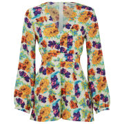 Madam Rage Women's Bright Floral Playsuit - Multi
