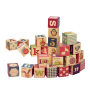B Wooden Block In Wooden Tray (24Pcs)