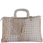Ted Baker Women's Crociss Exotic Stab Stitch Maxi Leather East West Bag - Mid Grey