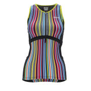 Zoot Women's Performance Triathlon Tank - Spectrum Stripe/Black