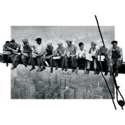 New York Men on Girder - Lenticular Poster - 47 x 67cm