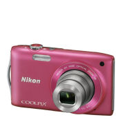 Nikon Coolpix S3300 Compact Digital Camera - Pink (16MP, 6x Optical Zoom, 2.7 Inch LCD)  - Grade A Refurb