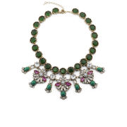Love Rocks Floral Embellished Necklace - Emarald