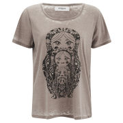 Vero Moda Women's Moog Burnout T-Shirt - Moon Rock