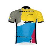 Primal Genesis Abacab Short Sleeve Jersey - Grey/Blue/Red/White/Yellow